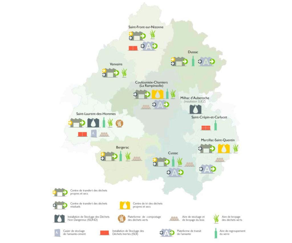 SMD3 - Les installations de gestion des déchets sur le territoire en 2018